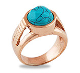 Copper Gemstone Rings