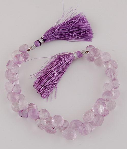 Pink Amethyst Semi Precious Onion Cut Gemstone Beads