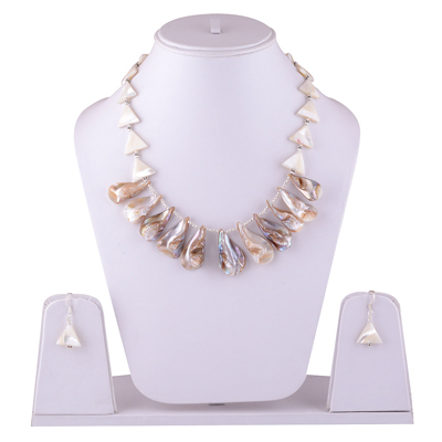 59.1gram Shell Silver Jewellery Sets