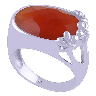 8.8gram Carnelian Silver Rings