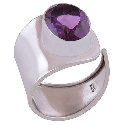 4.6gram Amethyst Silver Rings