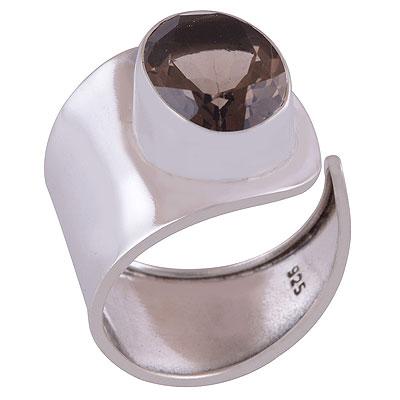 4.5gram Smoky Topaz Silver Rings