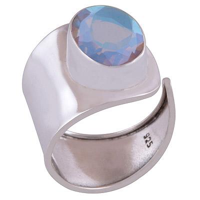 5.3gram White Mystic Opal Silver Rings