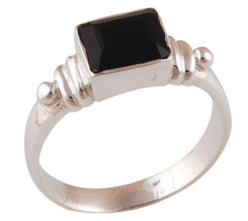 3.8gram Black Onyx Silver Rings