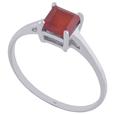 1.4gram Carnelian Silver Rings