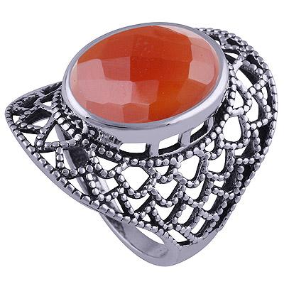 8.4gram Carnelian Silver Rings