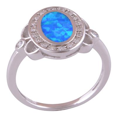 2.8gram Opal, White Cubic Zirconia Silver Rings