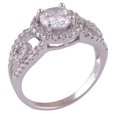 3.6gram White Cubic Zirconia Silver Rings