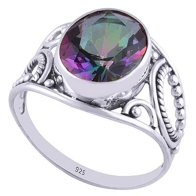 3.1gram Mystic Topaz Silver Rings