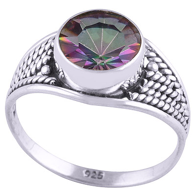 2.5gram Mystic Topaz Silver Rings