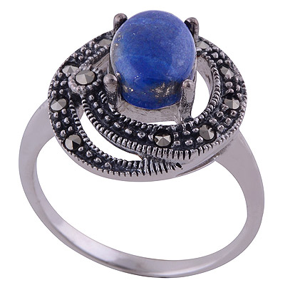 4.9gram Lapis,Marcasite Silver Rings