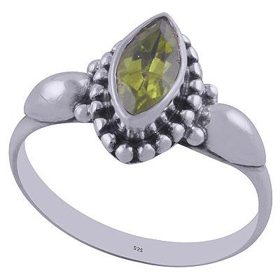 2.5gram Peridot Silver Rings
