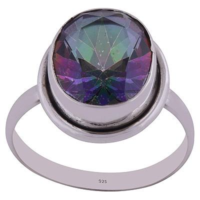 3.3gram Mystic Topaz Silver Rings