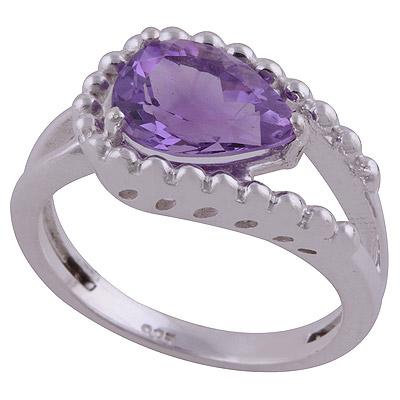 4gram Amethyst Silver Rings