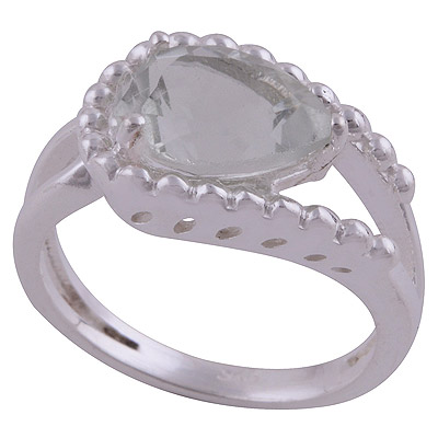 4.1gram Green Amethyst Silver Rings