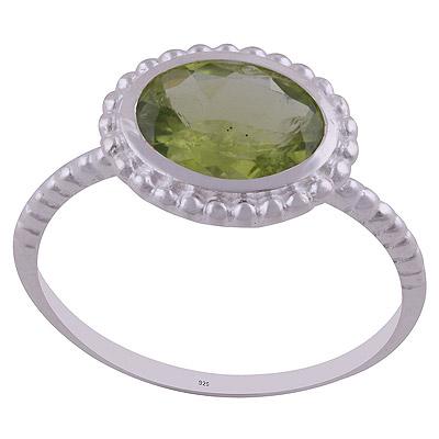 2.6gram Peridot Silver Rings