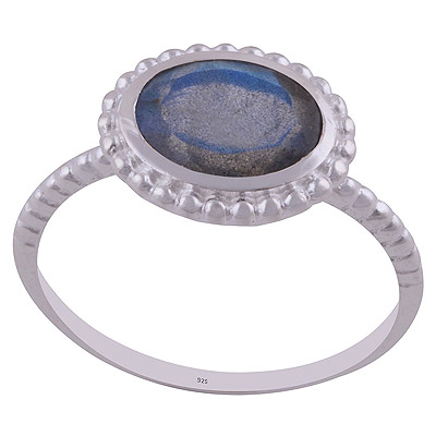 2.4gram Labradorite Silver Rings