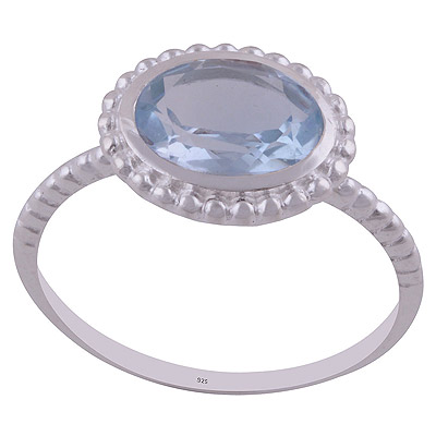 2.9gram Blue Topaz Silver Rings