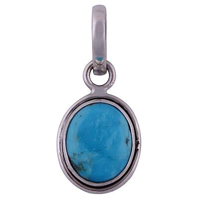 2.6gram Arizona Turquoise Silver Pendants