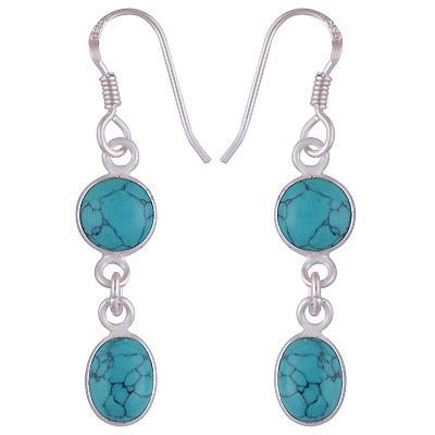 2.3gram Turquoise Silver Earrings