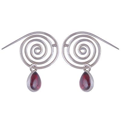 5.3gram Garnet Silver Earrings