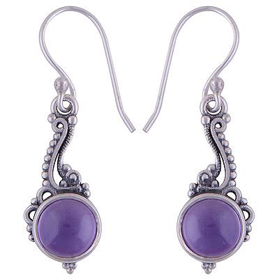 3.7gram Amethyst Silver Earrings