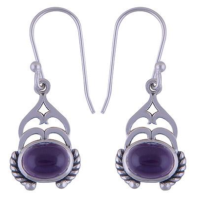 4.1gram Amethyst Silver Earrings