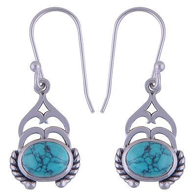 3.9gram Turquoise Silver Earrings