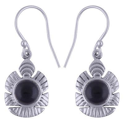 4.5gram Black Onyx Silver Earrings