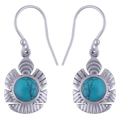 4.3gram Turquoise Silver Earrings