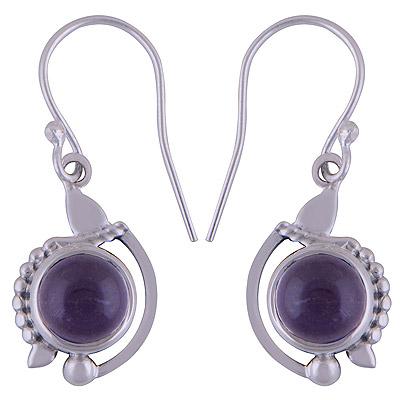 4.6gram Amethyst Silver Earrings