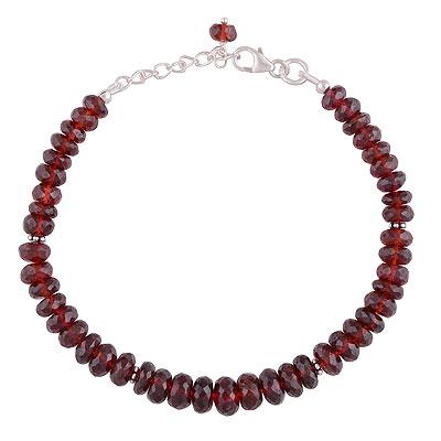 15.2gram Garnet Silver Bracelets