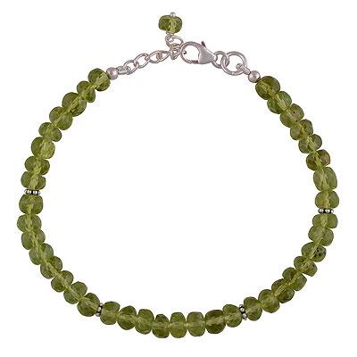 9.7gram Peridot Silver Bracelets