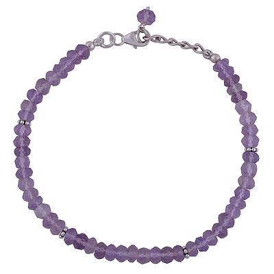 6.9gram Pink Amethyst Silver Bracelets