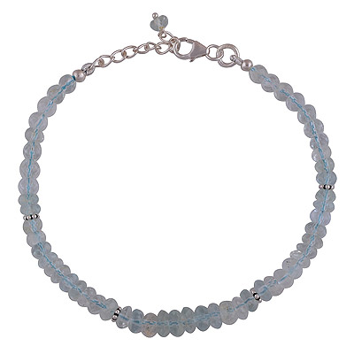 7gram Aquamarine Silver Bracelets