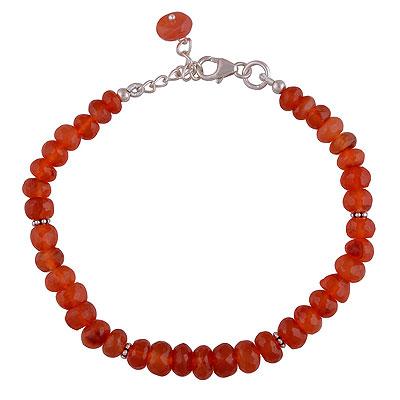 9.7gram Carnelian Silver Bracelets