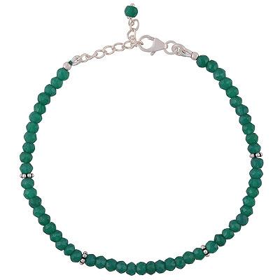 9gram Green Onyx Silver Bracelets