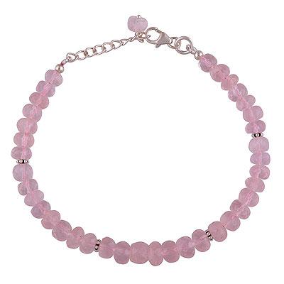 10.2gram Rose Quartz Silver Bracelets