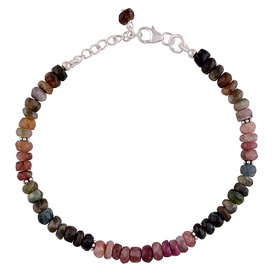 8.6gram Tourmaline Silver Bracelets