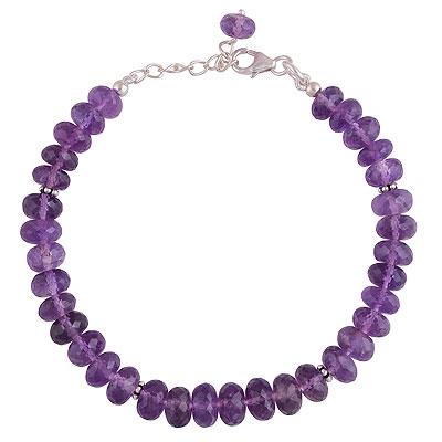 13gram Amethyst Silver Bracelets