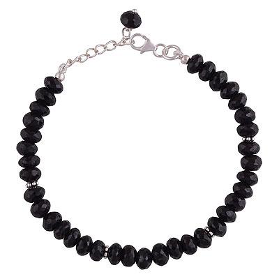 13.7gram Black Onyx Silver Bracelets