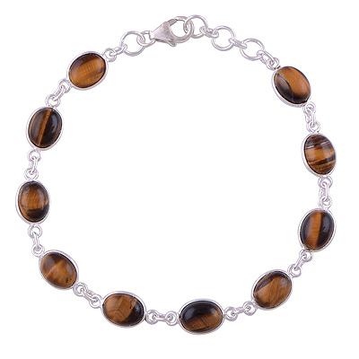 7.9gram Tiger Eye Silver Bracelets