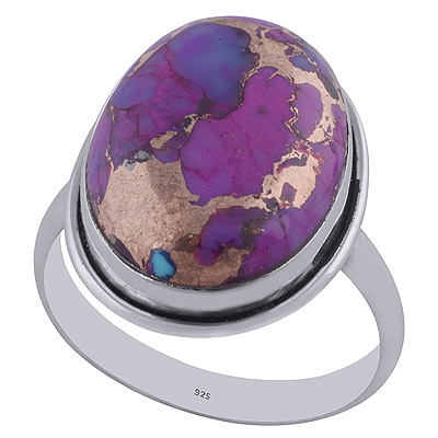 4.1gram Purple Copper Turquoise Silver Rings