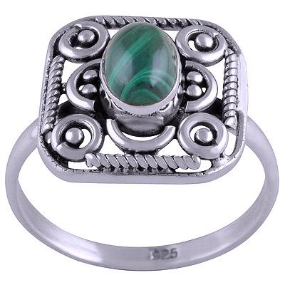 3gram Malachite Silver Rings