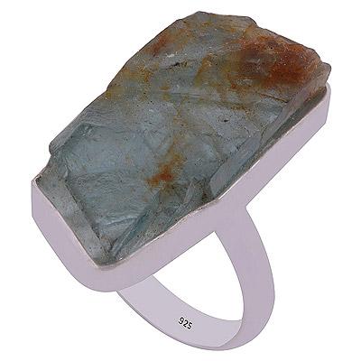 5.5gram Aqua Kyanite Silver Rings
