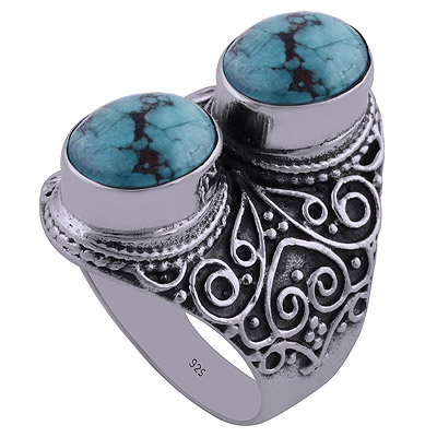 12.2gram Turquoise Silver Rings