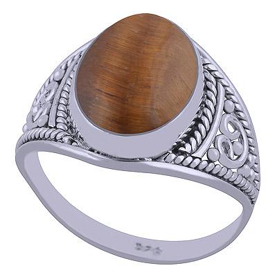 4.5gram Tiger Eye Silver Rings