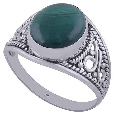 4.3gram Malachite Silver Rings