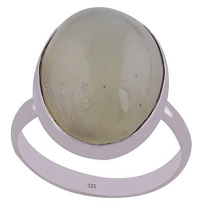 4.7gram Prehnite Yellow Silver Rings