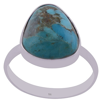 3.4gram Mohave Turquoise Silver Rings